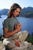 Yoga superior de la montaña Foto de archivo libre de regalías