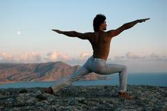 Yoga superiore della montagna Fotografia Stock
