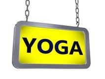 Yoga sur le panneau d'affichage illustration de vecteur