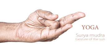 Yoga Surya mudra Royalty Free Stock Image