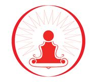 Yoga symbol -  illustration Stock Image