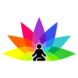 Yoga symbol for logotype Royalty Free Stock Image