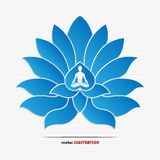 Yoga symbol Royalty Free Stock Photography