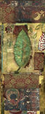 Yoga Tantra. Leaf collage with ancient yogic dieties mural. Essential nature Stock Photography