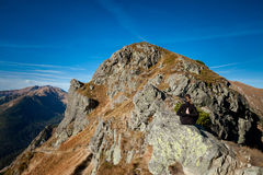 Yoga in Tatry mountains Royalty Free Stock Image