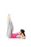 Yoga teenager di addestramento della donna Immagine Stock