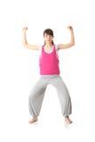 Yoga teenager di addestramento della donna Fotografia Stock Libera da Diritti
