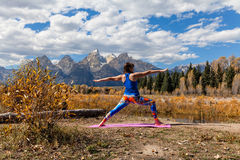 Yoga in the Tetons Stock Photos
