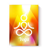 Yoga theme template. Flyer card or visitcard template. Yoga theme Royalty Free Stock Photos