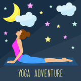 Yoga theme. Trendy flat style. Stock Images