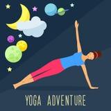 Yoga theme. Trendy flat style. Stock Photos