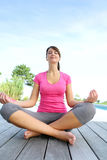 Yoga time Stock Image
