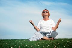 Yoga time Stock Images