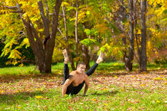 Yoga tittibhasana pose Stock Images
