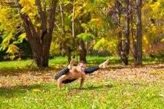 Yoga tittibhasana pose Stock Image