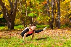 Yoga tittibhasana pose Stock Photos