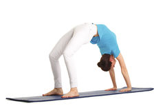 Yoga trainer Stock Image