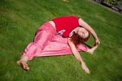 Yoga training Royalty Free Stock Photography