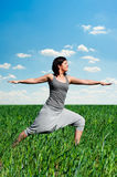 Yoga training Royalty Free Stock Photography