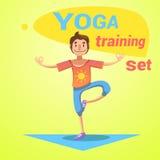 Yoga Training Set Stock Photos