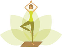 Yoga tree pose Royalty Free Stock Photography