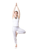 Yoga tree pose Royalty Free Stock Images
