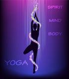 Yoga tree pose (vriksasana). Stock Images