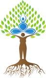Yoga tree. A vector drawing represents yoga tree design vector illustration