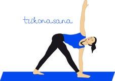 Yoga. Trikonasana Royalty Free Stock Photography