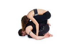 Yoga for Two - Series Royalty Free Stock Photography