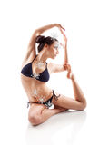 Yoga und Ausdehnen Stockfotografie