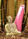 Yoga und Buddha Stockfotos