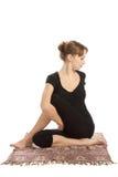 Yoga und Eignung. Lizenzfreie Stockfotografie