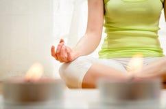 Yoga und entspannt sich Stockfotografie