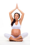 Yoga- und Entspannungsübungen während der Schwangerschaft Lizenzfreie Stockfotos