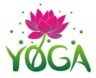 Yoga und Lotosblume Hinduismusphilosophie lizenzfreie stockfotografie