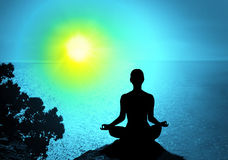 Yoga und Meditation Lizenzfreie Stockbilder
