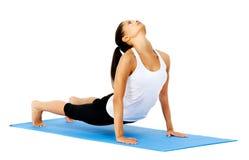 Yoga upward facing dog Royalty Free Stock Photos