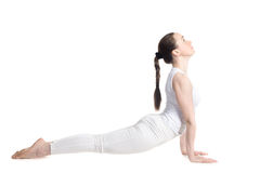Yoga upward facing dog pose Royalty Free Stock Photography