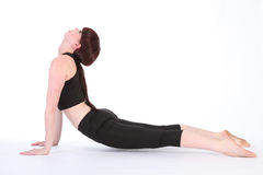 Yoga Upward Facing Dog pose Urdhva Mukha Svanasana Stock Image