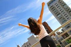Yoga urbana Fotografia Stock Libera da Diritti