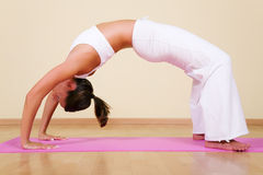 Yoga - Urdhva Dhanurasana 2 Stock Photos