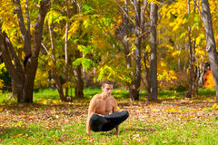Yoga uth pluthi pose Royalty Free Stock Image