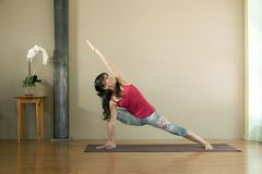 Yoga Utthita Parsvakonasana Royalty Free Stock Photos