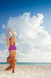 Yoga on vacation Royalty Free Stock Photography