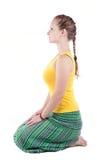 Yoga Vajrasana Haltung Stockbilder