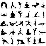 Yoga vector. In black and white royalty free illustration