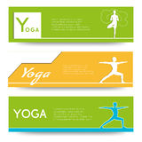 Yoga vector banner. Stock Photo