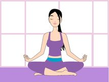 Yoga vector illustration Royalty Free Stock Photos
