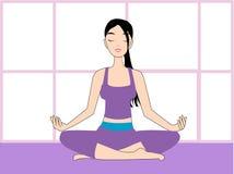 Yoga vector illustration Royalty Free Stock Photos